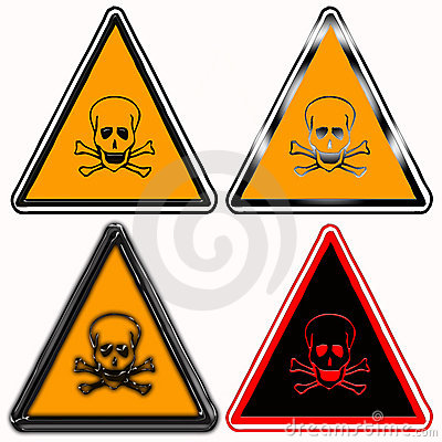 Toxic hazard warning signs
