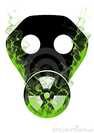 Toxic mask and smoke
