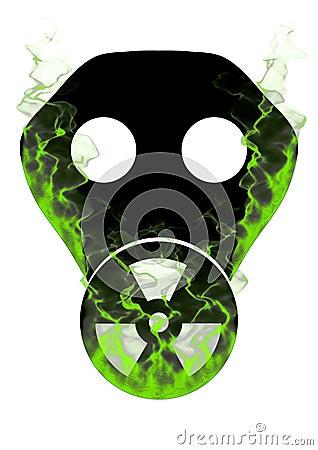 Toxic mask and smoke