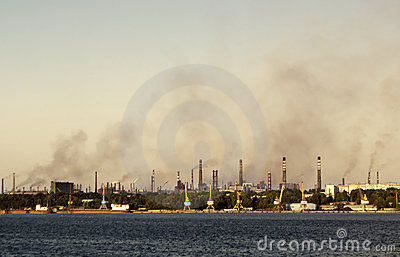 Toxic smoke over the town