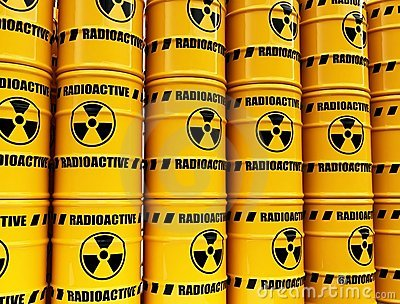 Toxic waste barrels