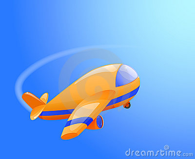 Toy airplane in the sky