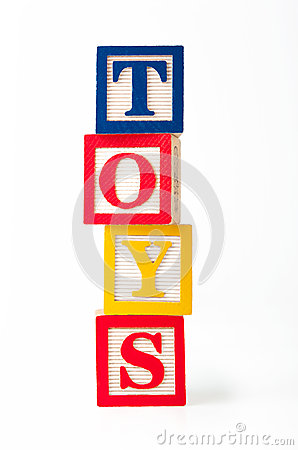 TOY alphabet blocks