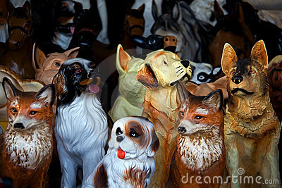 Toy animal statuettes