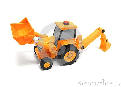 Toy backhoe
