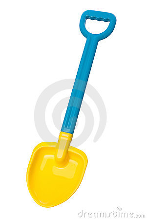 Toy Beach Shovel (clipping path)