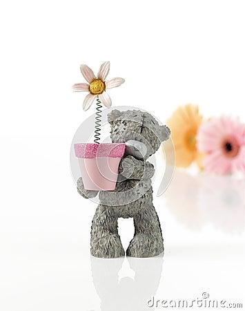 Free Toy Bear Folding Flower Pot Royalty Free Stock Photo - 19941715