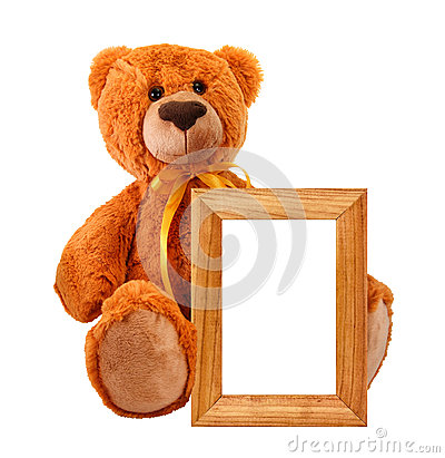 Free Toy Bear With Photo Frame Stock Photos - 28829993