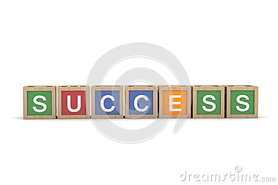 Toy Block with Success Word