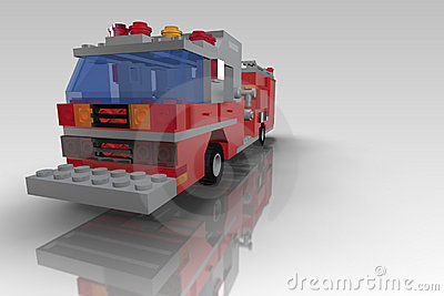Toy Blocks Fire Truck