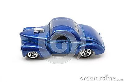 Toy Blue Drag Racing Car