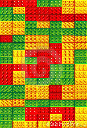 Toy bricks background