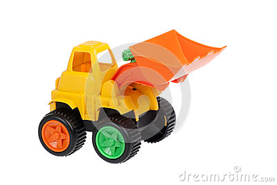 Toy, bulldozer isolated