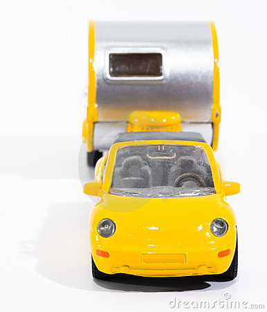 Toy car cabrio and camper