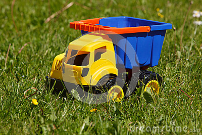 Toy car in grass