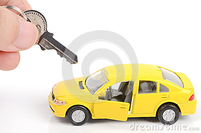 Toy car and key