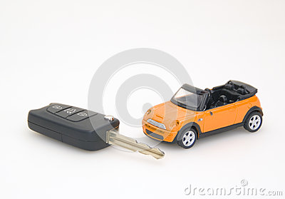 The toy car and key