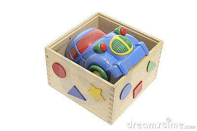 Toy Car in Wooden Box