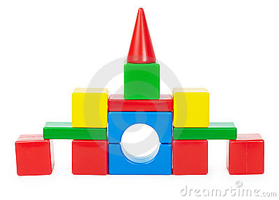 Toy castle isolated on white