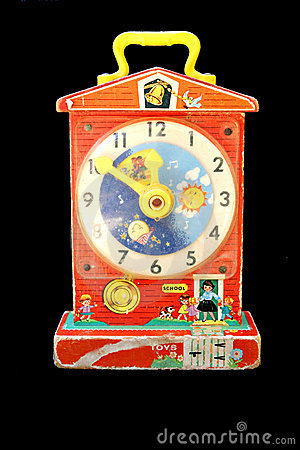 Free Toy Clock Royalty Free Stock Photography - 972077