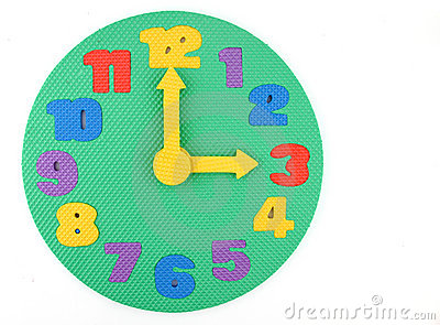 Toy Clock on white background