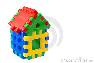 Toy colored house