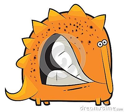 Toy dinosaur grinding teeth