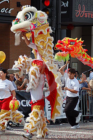 Toy Dragons at Sixth Annual Chinese Lunar New Year Editorial Image