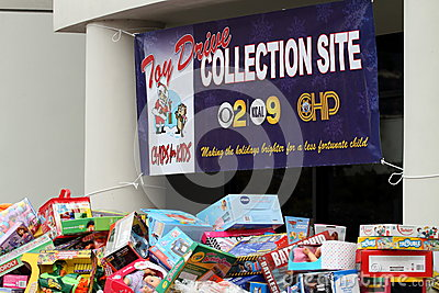 Toy Drive Editorial Stock Photo