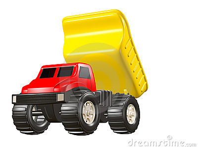 Toy Dump Truck Dumping Load