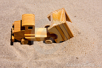 Toy Dump Truck Dumping Sand