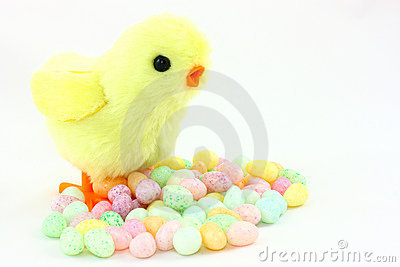 Toy Easter Chick With Jelly Beans