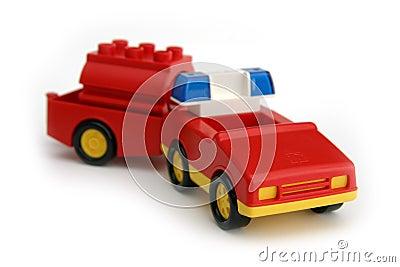 Toy fireman s car