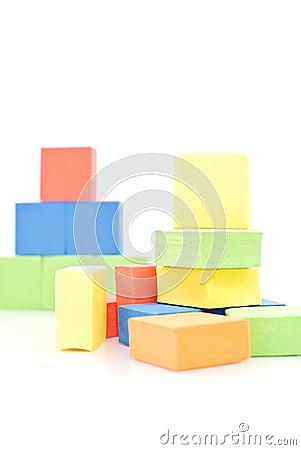 Free Toy Foam Blocks Royalty Free Stock Photo - 21846355