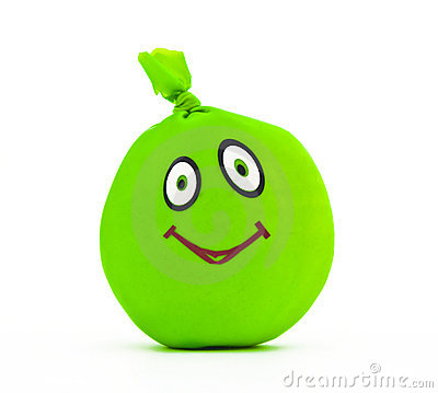 Toy in the form of green smile