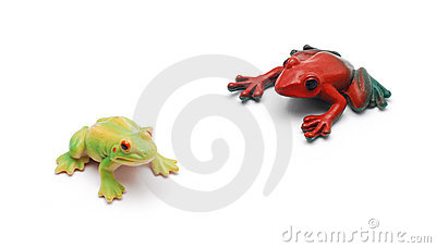Toy frogs
