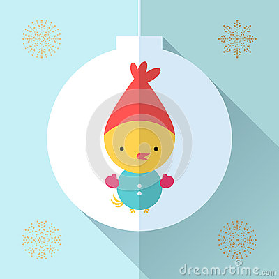 Toy greeting card Vector Illustration