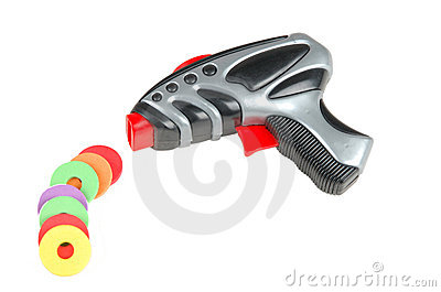 Toy Gun With Bullets Royalty Free Stock Image Image