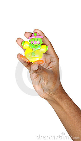 Toy with hand