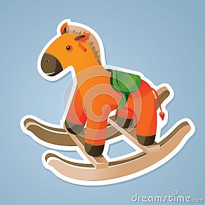 Toy horse sticker