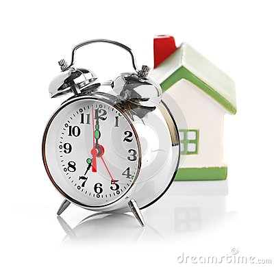 Toy House and alarm clock