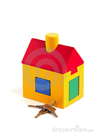 Free Toy House And Keys Royalty Free Stock Photos - 379878