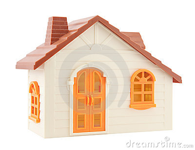 Toy house with clipping path