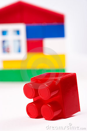 Toy house isolated on white