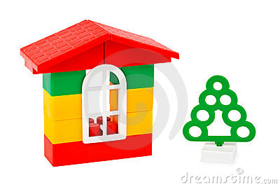 Toy house and tree