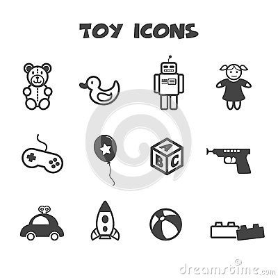 Free Toy Icons Royalty Free Stock Image - 41213266