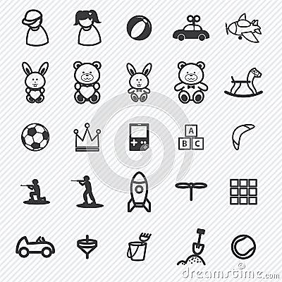 Free Toy Icons Set.illustration Royalty Free Stock Image - 45234156