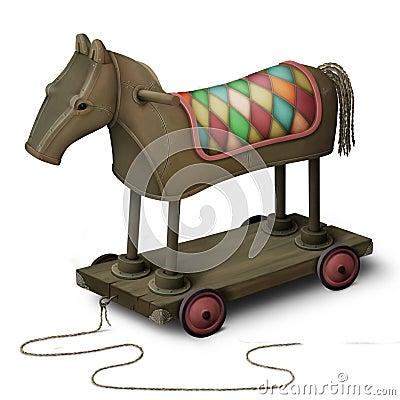Toy iron horse