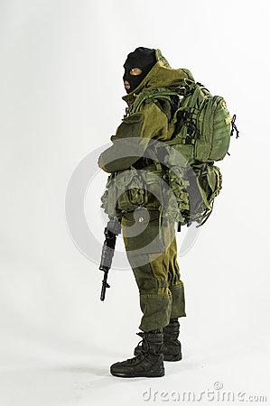 Free Toy Man 1/6 Scale Soldier Action Figure Army Miniature Realistic White Background Royalty Free Stock Photos - 50046888