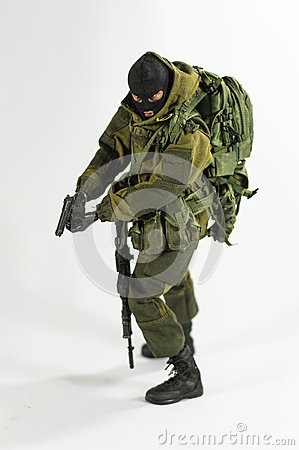 Free Toy Man 1/6 Scale Soldier Action Figure Army Miniature Realistic White Background Stock Photo - 50047040